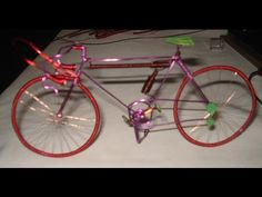 Bicicleta clásica de alambre hecha a mano de una sola pieza. bicycle handmade wire. - YouTube