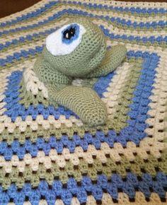 crochet sea turtle blanket by KissedbytheMoonB on Etsy