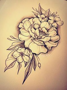 Roses, tattoo sketch made by Taty Tattoo Rose rosa flowers fiori foglie dotwork black work black and white bianco e nero