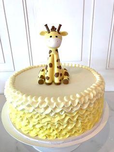 Baby Showers Yellow Giraffe Baby Shower Cake by 3 Sweet Girls Cakery! Giraffe Birthday Cakes, Giraffe Birthday Parties, Yellow Birthday Cakes, 1st Birthday Cake For Girls, Giraffe Cakes, Baby Shower Desserts, Baby Shower Cupcakes, Shower Cakes, Baby Shower Giraffe