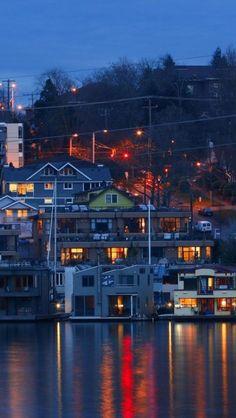 Lake Union,  Seattle, Washington, USA... This is the lake for Wednesday night sailing :)