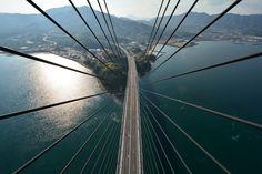 Shimanami Kaido Tatara Bridge | Onomichi Hiroshima, Japan || しまなみ海道多々羅大橋主塔頂上から見た風景
