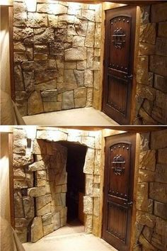 Photo via pbteen .    There is something so fun and mysterious about secret doors and hidden rooms!  They aren't just for scary movies and...