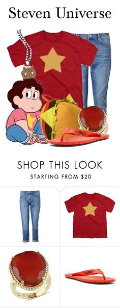 """Steven Universe"" by megan-vanwinkle ❤ liked on Polyvore featuring Whistles, Ice, Callisto, Cartoon Network and stevenuniverse"