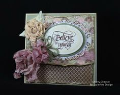 Card made for Quietfire Design using Spellbinders, BoBunny and If You Don't Believe in Miracles