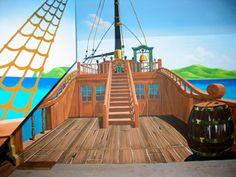 Pirate Mural - Pirate Murals Kids room