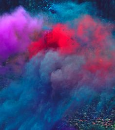 a colorful explosion