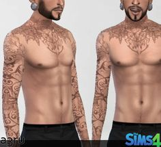 Full Floral tattoo at A3RU � Sims 4 Updates