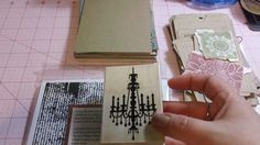 How I make my mini junk journals - Step 3