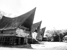 Rumah Bolon - traditional house of Batak people in North Sumatra.