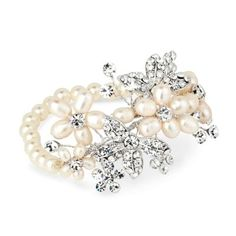 Buy Alan Hannah Freshwater Pearl Crystal Flower Stretch Bracelet, Silver from our Women's Bracelets range at John Lewis & Partners. Free Delivery on orders over Crystal Flower, Stretch Bracelets, Fresh Water, Fine Jewelry, Jewellery, Wedding Jewelry, Dream Wedding, Jewelry Accessories, Brooch