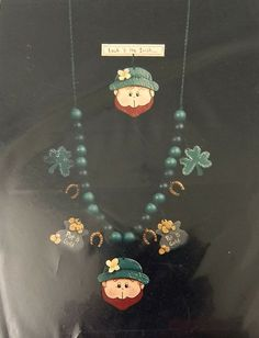 St Patrick/'s Day souvenir Jewelry Set Multicolored beads Dark Green color Gift to colleague Every day decoration Gift set Made with love