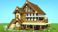 Minecraft House Guide: How to Build the Best Minecraft House Minecraft House Guide, Big Minecraft Houses, Minecraft Houses Survival, Minecraft House Tutorials, Minecraft Houses Blueprints, Minecraft House Designs, Minecraft Bedroom, Minecraft Tutorial, Minecraft Projects