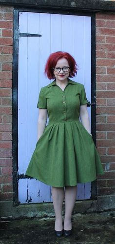 Green Christian Dior inspired dress