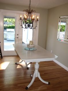Duncan Phyfe Painted Table  Studio  Painted Furniture Alluring Restoring Dining Room Table Design Ideas