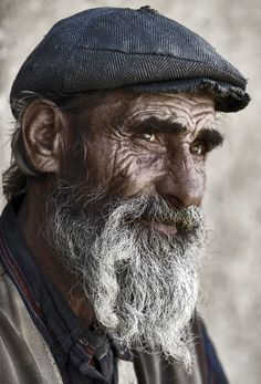 Old Man portrait Melancholy Requiem by salemwitch