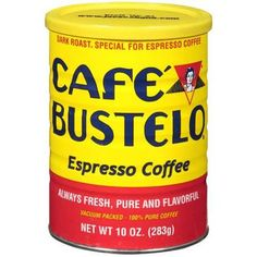 Drink a hot cup of Caf Bustelo Espresso Coffee for an extra boost of energy. The roast is specially blended for espresso coffee drinks giving you a bold rich flavor in every sip you take. Nyc Coffee Shop, Best Coffee Roasters, Coffee Cafe, Coffee Drinks, Portland Coffee, Seattle Coffee, Starbucks Coffee, Expresso Coffee, Gourmet