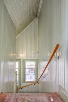School house built in Sweden Interior Stairs, Interior And Exterior, Colour Blocking Interior, Us White House, Rustic Staircase, Flooring For Stairs, Swedish Interiors, Eclectic Furniture, Swedish House