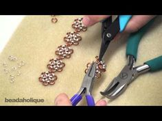 Learn how to make a pretty bracelet and ring set with this chain maille #tutorial