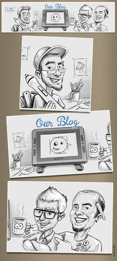 Blog caricature on Behance