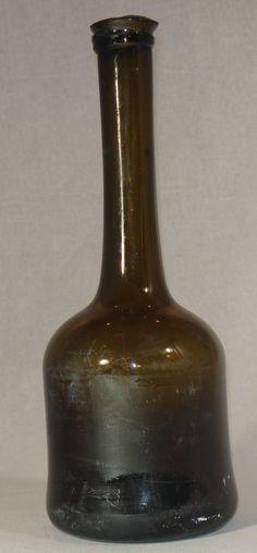 Antique Glass Bottles, Bottles And Jars, Black Glass, Decorative Bells, Tin, Amber, Collections, Jars, Bottles