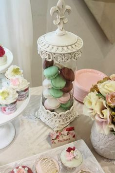 Beautiful Roses and Birdcages Themed Dessert Table by Cakes by Joanne Charmand | Little Big Company