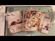 Coffee themed Journal in a stuffed paper bag ARTYmaze - YouTube