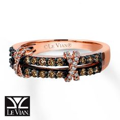 chocolate diamonds | Kay - Chocolate Diamonds® Ring 1/2 carat tw 14K Strawberry Gold®