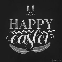 Happy easter - le papier - typography
