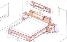 Wardrobe Design Bedroom, Bedroom Bed Design, Wooden Pallet Furniture, Pallet Beds, Interior Design Resources, Home Interior Design, Bookcase Headboard King, King Size Storage Bed, Sectional Living Room Sets