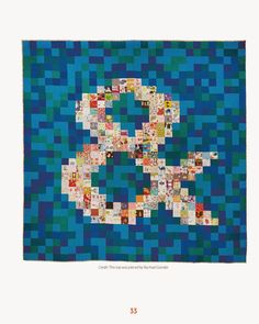 """Thomas Knauer, author of Modern Quilt Perspectives. The quilt """"Ampersand"""" is…"""