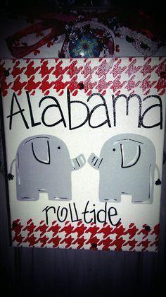 Alabama Elephant Painting by DoodlebugArtCreation on Etsy, $20.00