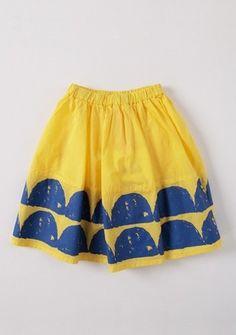 Wave skirt yellow [ SPRING ]