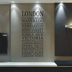 City London Words Wall Stickers – DKK kr. 280  LOVE it, just have no place to put it.:.-(