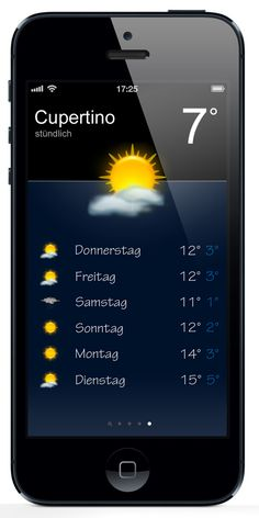 iOS 7 weather app concept