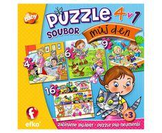 """Soubor puzzle 4v1 """"Můj den""""  »"""