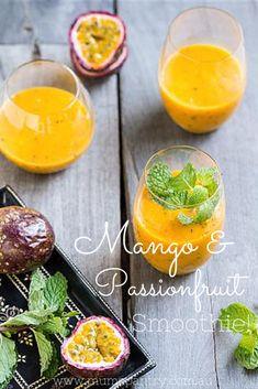 Mango and Passionfruit Smoothie - Mum's Pantry
