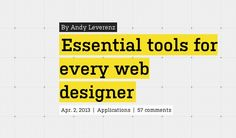 essential tools for every web designer - love this list!