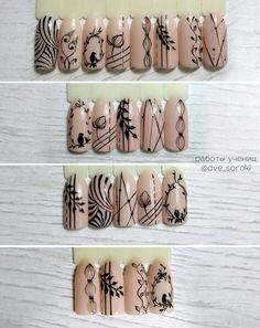 Installation of acrylic or gel nails - My Nails Nail Art Hacks, Gel Nail Art, Nail Art Diy, Acrylic Nails, Blue Nails, My Nails, Nail Art Designs, Flower Nail Designs, Nail Drawing