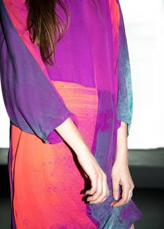 silk dress, produced in NYC @ salvor projects