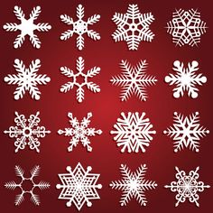 Free download Beautiful snowflake patterns vector design, Free Downloadvectorsofbeautiful snowflake patternbackground vector. A variety ofbeautiful sn
