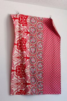 Simple but pretty 30x40 Ruby Rad Stroller Blanket by moxiemandie on Etsy.