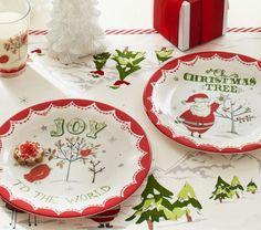 Joy & Christmas Plate Set | Pottery Barn Kids