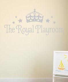 Silver 'The Royal Playroom' Decal