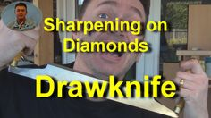 Sharpening a Drawknife on Diamond Stones It's easy to produce a sharp drawknife, using diamond whetstones and a leather strop. Metalworking, Diamond Stone, Peacock, Spoon, Stones, Woodworking, Carving, Leather, Rocks
