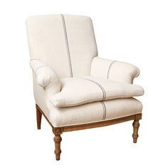 Antique French Bergere with Turned Legs