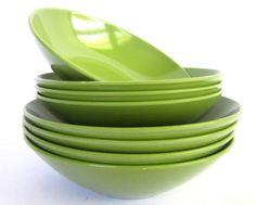 vintage melamine bowls