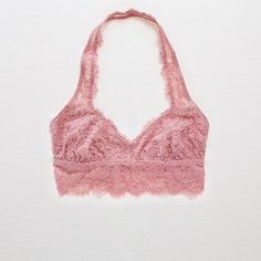 a523aa28063 Aerie Romantic Lace Halter Bralette ( 22) ❤ liked on Polyvore featuring  intimates