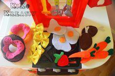 Zubehör für die Spielküche aus Filz genäht