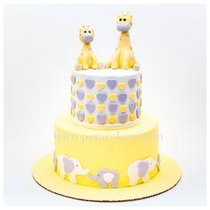 Baby giraffe - baby shower cake by Pera Cakery
